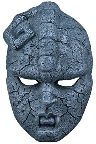 helymore Unisex JoJo's Bizarre Adventure Cosplay Copricapo Casco di Pietra Resina Halloween Copricapo Orribile 24cm * 13cm