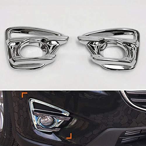 JIERS Für Mazda CX5 2015, Nebelscheinwerfer Lampenabdeckung Nebelscheinwerfer Verkleidung Blende Garnierung Stoßstange Dekoration Auto Styling