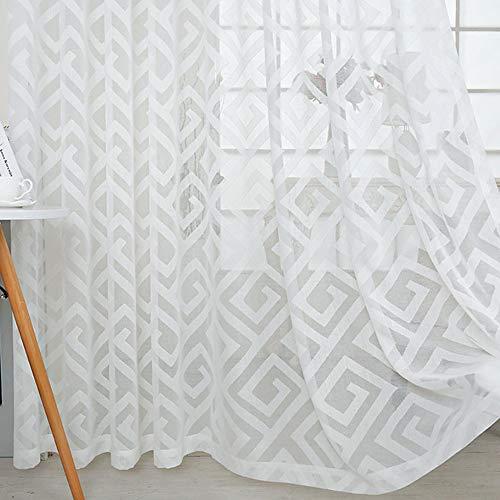 cortinas cortas para ventanas lino