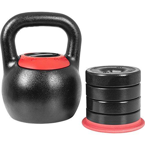 GORILLA SPORTS® Kettlebell verstellbar 8-16 kg – Adjustable Kugelhantel mit 5in1 Gewichtsvarianten