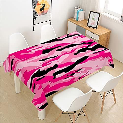 XXDD Mantel de Camuflaje Cubierta de Mesa Mesa de Picnic Rectangular luz Cubierta de Mesa de Lujo decoración de Mesa para el hogar Mantel A6 135X160CM