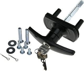 T-Handle Garage Door Lock 35mm Spigot Long Shaft Merlin Doric King For HENDERSON