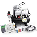 Fengda Airbrush Kit with Compressor Set FD-186K with compressor FD-186, Airbrush BD-130 and accessories