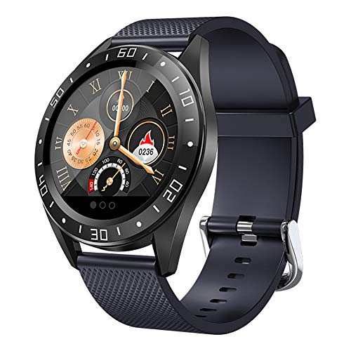 Smart Watch, Touchscreen Bluetooth Smartwatch for Men Women Kids, Waterproof Smart Wrist Watch with Pedometer Compatible iOS Android, Fitness Activity Tracker W/ Heart Rate Monitor (Black)