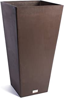 Veradek Midland Tall Square Planter, 32-Inch Height by 16-Inch Width, Espresso (MV32E)