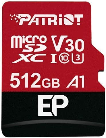 Patriot 512GB EP Series A1 / V30 Support microSD Card SDXC Android Smartphone and Tablet with 4K App Optimized, PEF512GEP31MCX