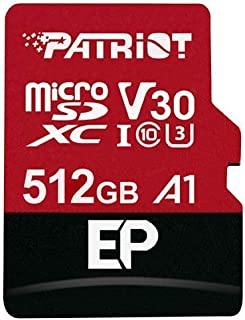 Patriot EP A1 microSD Card SDXC 512GB for Android Phones and Tablets, 4K Video Recording PEF512GEP31MCX
