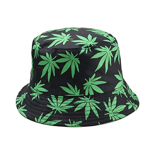 Leisial - Sombrero de algodón unisex, hojas de arce Verde verde
