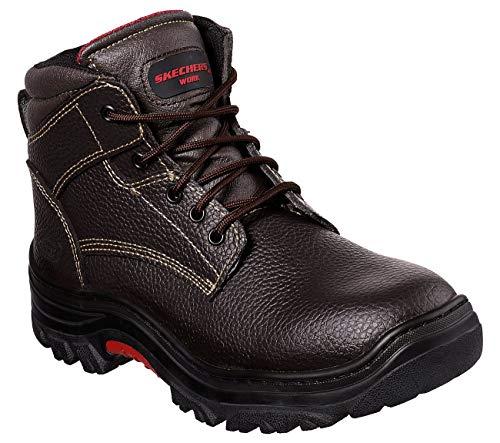 Skechers Men's Burgin Congaree Construction Shoe, Brown, 11
