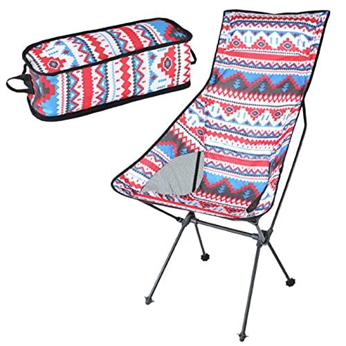 N\C Silla de camping plegable ligera y resistente, con bolsa de transporte, apta para pesca, camping, playa, actividades al aire libre
