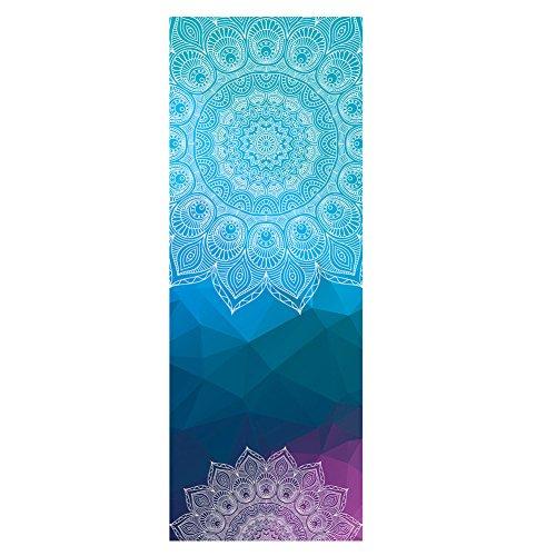 DOXUNGOO Doppelter Samt rutschfeste Yoga Handtücher,rutschfest saugfähig und hitzebeständig Premium Yogatuch, Yoga Towel Geeignet für heißes Yoga (B)