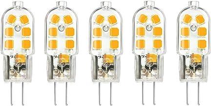 5 Pack G4 LED Bulbs Warm White 3W 250lm 12V AC/DC G4 Bulb, 360 Beam Angle Energy Saving Bulb, SMD 2835 LEDs Light, Not Dim...
