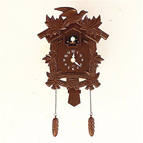 ZloveM Reloj De Pared Grande Silencioso Decorativo Reloj De Pared para Sala De Estar, Cocina, Baño, Hotel Diario De Música De Cuco, Sala Infantil 38X21Cm.