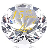 YWHL Anniversary Crystal Gifts for Him - 15th Wedding Anniversary Romantic Gifts for Husband - Unique 15 Years of Love Keepsake
