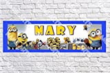 Personalized/Customized Minions Movie #2 Name Poster with Border Mat- Home Wall Decor Birthday Party Door Banner