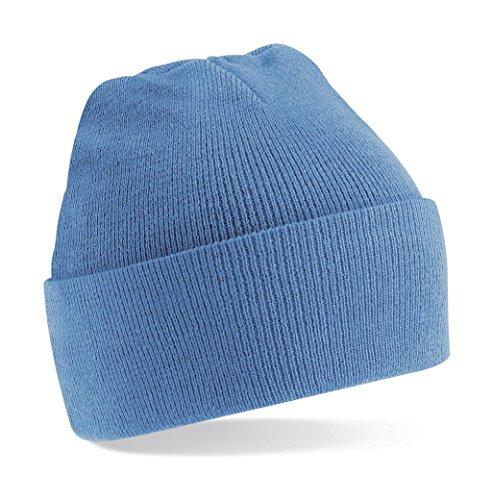 Beechfield Unisex Turn-up Beanie Baseball Cap, Blue (Sky Blue), One Size
