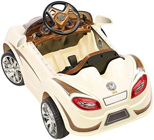 RC Auto kaufen Kinderauto Bild 6: Playtastic Kinderelektroauto: Edles Elektro-Kinderfahrzeug mit Fernsteuerung (Kinderauto)*