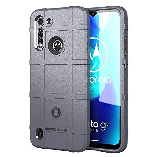 Haotian Compatible para Funda Motorola Moto G8 Power Lite, con Simple, Suave y Duradero, Antideslizante TPU Flexible Diseño. Gris