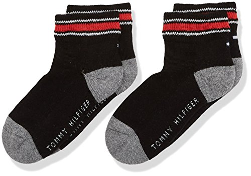 Tommy Hilfiger Jungen TH KIDS ICONIC SPORTS QUARTER 2P Socken, Schwarz (Black 200), 27-30 (2er Pack)