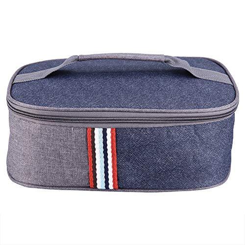 Stronerliou Wärmeisolierter Kühler Lunch Bag Reiseschule Picknick Lebensmittel Aufbewahrungskoffer Behälter