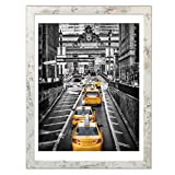 Finefrarm 12x16 Frames Display 11x14 Picture with Mat or 12 x 16 Photo Without Mat Rustic Style Picture Frame Wall Art for Living Room Wall Mounting Decor