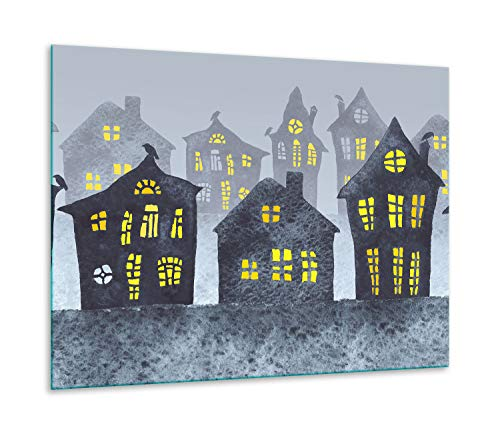 QTA | fornuisafdekplaat 60 x 52 cm keramische afdekking 1-delig universeel elekrofornuis inductie voor kookplaten warmtebescherming spatbescherming snijplank stad