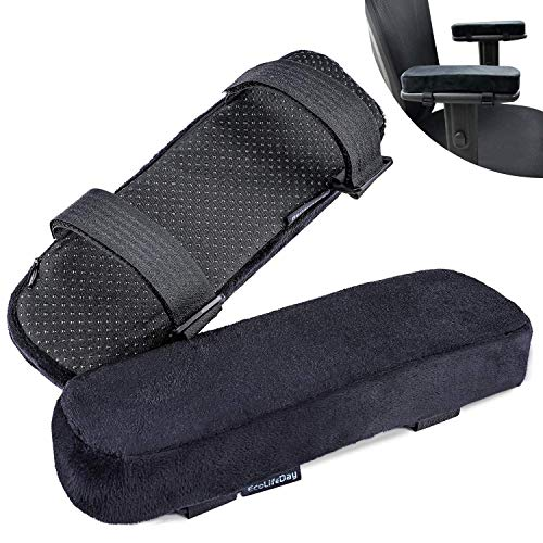 EcoLifeDay Chair armrest Cushions Elbow Pillow Pressure Relief armrest Pads 2-Piece Set of Office Chair armrest Gaming Chair armrest with Quick Rebound Sponge