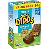 Quaker Chewy Dipps Chocolatey Covered Granola Bars, Peanut Butter, 14 Bars