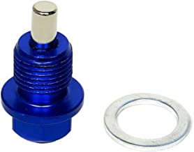 CarXX Magnetic Oil Drain Plug Compatible with BMW Chrysler Dodge (M18x1.5, Blue)