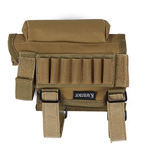 Rifle Cheek Riser, Tactical Rifle Cheek Rest with 7 Rifle Stocks Holder for 300 308 Winmag. (Khaki)