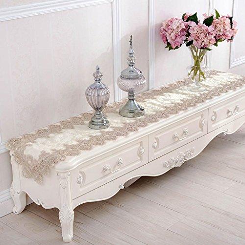 HAIYING Tischläufer Hochzeit Party Floral Hand Häkeln Tischläufer Weiß Spitze Tisch Tischläufer Tischläufer Weiß ( größe : 40*150CM )