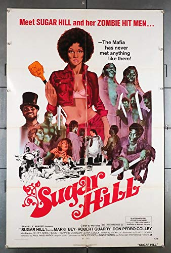 Sugar Hill (1974) Original U.S. One-Sheet Movie Poster 27x41 Folded Fine Plus MARKI BEY ROBERT QUARRY DON PEDRO COLLEY BETTY ANNE REES Film directed by PAUL MASLANSKY