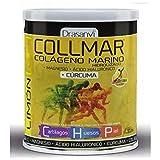 Collmar, colágeno marino hidrolizado con magnesio y ácido hialurónico + cúrcuma para cartilagos, huesos y piel 300g sabor limón