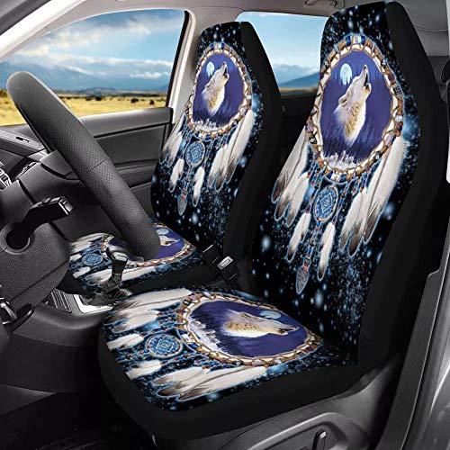 chaqlin - Juego completo de 2 fundas de asiento delantero para coche, asientos delanteros y vehículos compatibles con la mayoría de vehículos, coches, sedan, camiones, SUV, furgonetas