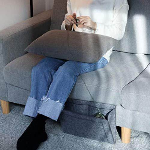 99native Betttasche, Sofa Organizer Betttasche,Filz Bettablage Bett Organizer Anti-Rutsch Nachttisch Tasche Bettaufhänger Organizer Aufbewahrungstasche für Buch, Tablet, Fernbedienung (Schwarz, L)