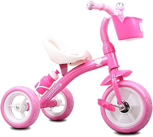 Kinder dreirad kinder pedal fürrad 2-8 jahre alt fürrad kinderwagen jungen und mädchen spielzeugauto (Farbe   Rosa)