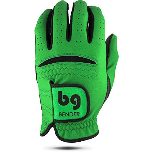 Bender Gloves Men's Synthetic Golf Glove (Worn on Left Hand) (Green, X-Large)