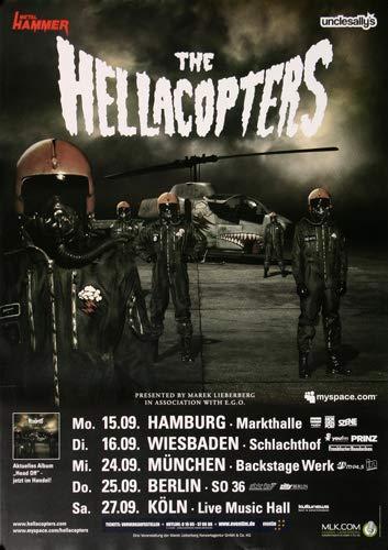 The Hellacopters - Head Off, Tour 2008 » Konzertplakat/Premium Poster   Live Konzert Veranstaltung   DIN A1 «
