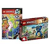 Collectix Lego Set: Ninjago Jays Elektro-Mech 71740 + cuaderno Ninjago (cómics, cartas coleccionables), incluye minifigura Kai