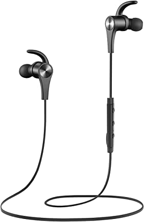 SoundPEATS Auriculares Bluetooth 4.1 Magnéticos Cascos Deportivos Inalámbricos con Mic, Resistente al Agua IPX6, Duración 9 Horas para iOS Android PC