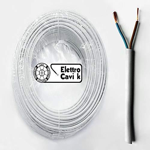 ® ELETTRO CAVI K - CAVO FROR GOMMATO 2x1,5 mm² ANTIFIAMMA BIPOLARE FLESSIBILE 2 POLI 50 METRI