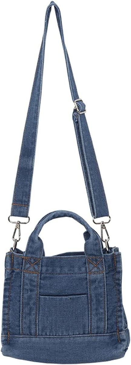 HOTRA Blue Denim Wallet and Lady Handbag Chain Card Bag Storage Bag Lady Travel Clutch Bag Leisure Shopping Travel Bag (Color : Blue, Size : As Shown)
