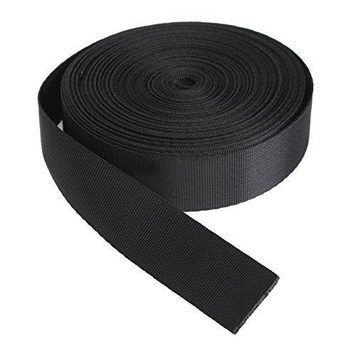 Romote Noir 10 Yards Nylon Ruban Multi-Webbing Utilisation Sangle Strapping (25 mm)