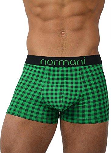 normani 6 x Herren Boxershorts aus Baumwolle mit Elasthan Farbe Green Check Größe S