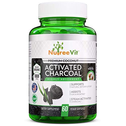 NutreeVit 100% Organic Highly Absorbent - Activated Charcoal (120 Count)