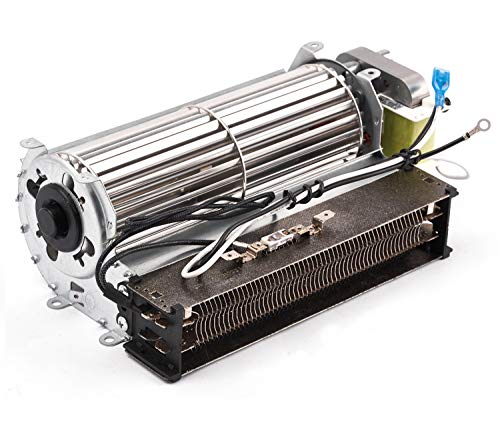 Replacement Fireplace Fan Blower and Heating Element for Twinstar Electric Fireplace, Wood Burning Stove, Blower with Heather Element for Twin Star 28E05, 28E05R, TS-001, 23EF010GAA Electric Fireplace