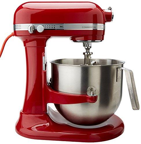 KitchenAid RKSM8990ER 8-Quart Commercial Countertop Mixer, 10-Speed, Gear-Driven, Empire Red