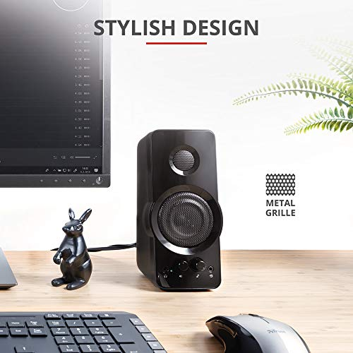 Trust Orion 2.0 PC-Lautsprecher für Computer und Laptop, 36 W, USB-betrieben, Schwarz