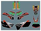 Hjunisshkm Calcomanías de la Motocicleta Pegatinas Kit de gráficos Kit de decancia gráfica para KTM ECC 2004 HFDYJ (Color : 9)