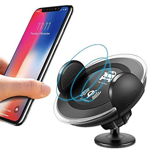 MRTYU-UY Cargador inalámbrico para iPhone x 8 Plus XS Max XR coche inalámbrico almohadilla de carga aire ventilación teléfono soporte para Samsung S8 S9